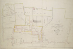 A PLAN of the MANOR of WENLOCK BARN in the Parishes of St. Leonard, Shoreditch & St. Luke, MIDDLESEX